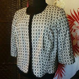 Jackets & Blazers - ✴✴Black & White Jacket Sz 22W✴✴